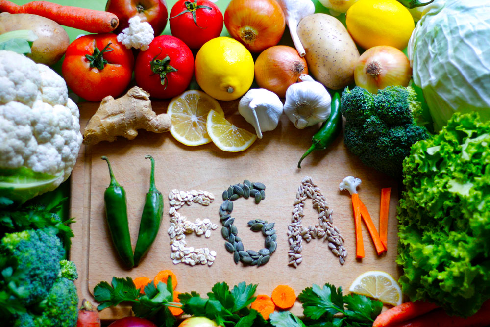 vegan food on a table hermosa beach massage blog header